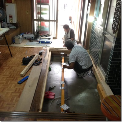 2015-08-29%2013.17.27_thumb 伊賀市老川の床かさ上げ工事現場です