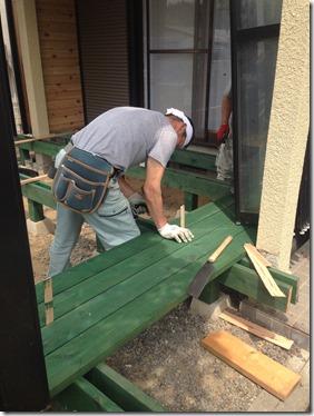 IMG_9904_thumb 伊賀市桐ヶ丘ウッドデッキ改修現場に来ています