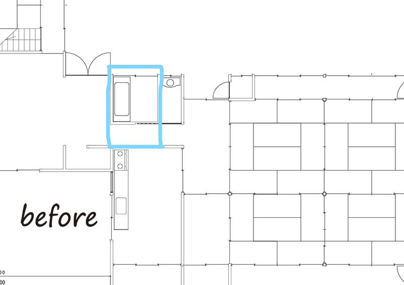 住みやすくなった古民家で迎える新しい家族施工前見取り図