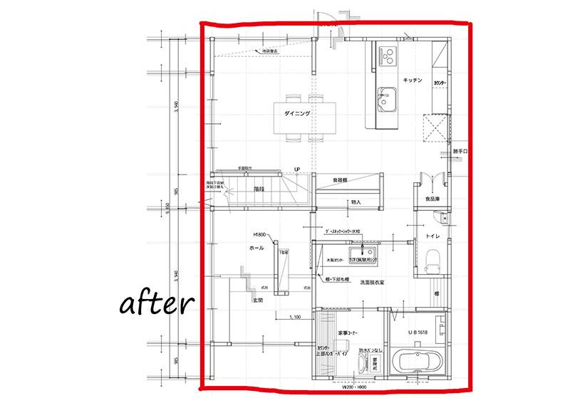暮らしやすさを追求した古民家リノベが完成施工後見取り図