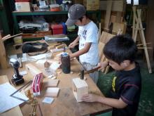 295415 夏休み、子ども木工教室