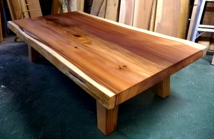 blog_import_550a19fb0367e 【完成】150年杉のローテーブル